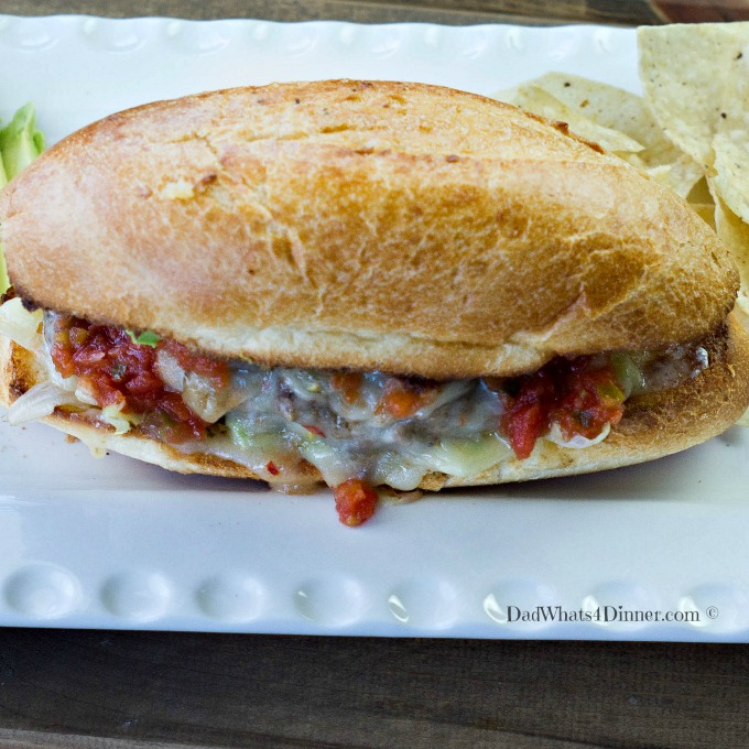 My Slow Cooker Mexican Hamburgers with Enchilada French Dip is the perfect family friendly Cinco de Mayo dinner.