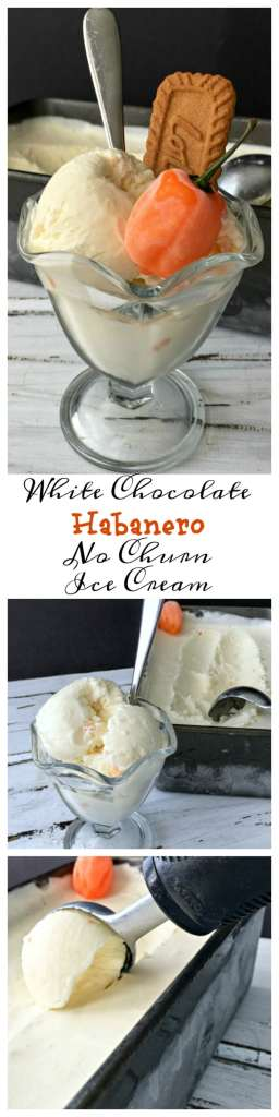 Look out, this White Chocolate Habanero No-Churn Ice Cream will cool you down then heat you up. A fabulous mixture of sweet heat!
