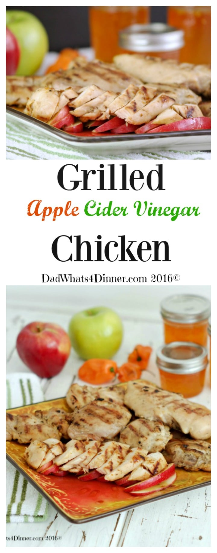 Enjoy apple harvest season by making my Grilled Apple Cider Vinegar Chicken with a hint of heat from pepper jelly. Packed with bold flavors!