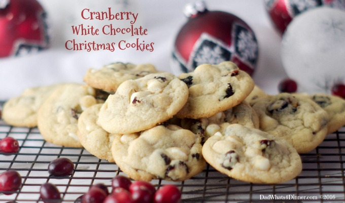 Cranberry White Chocolate Christmas Cookies