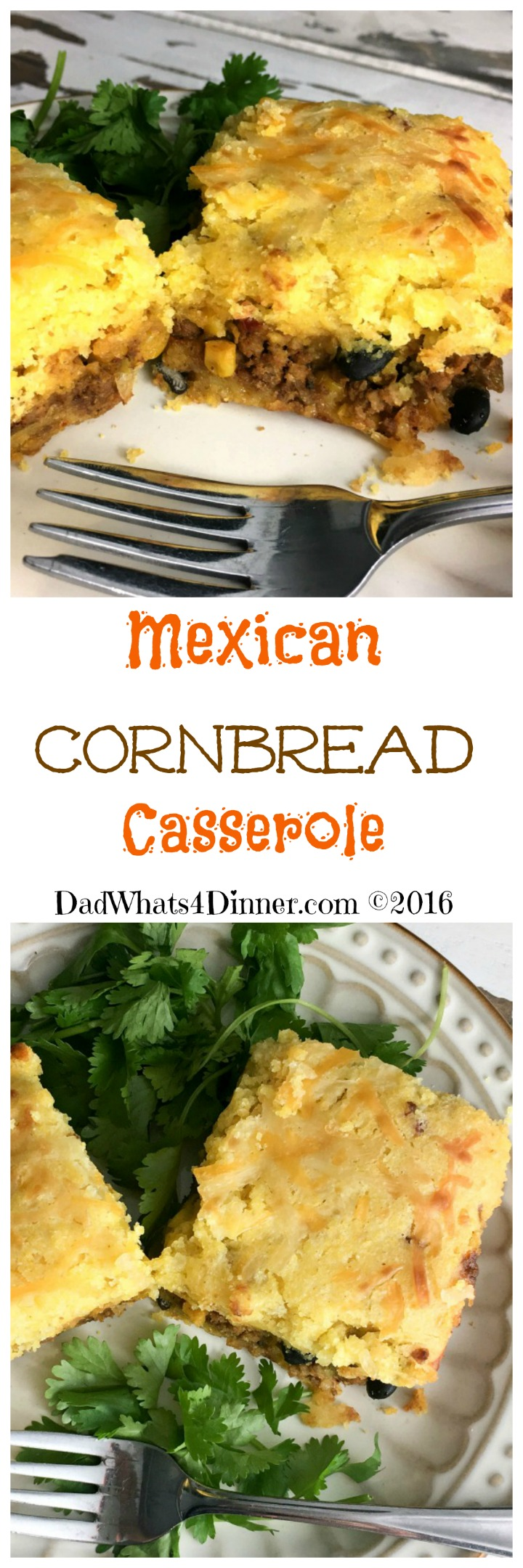 Great fusion between Southern and Mexican comfort food. Mexican Cornbread Casserole is super easy to make and your kids will love it.