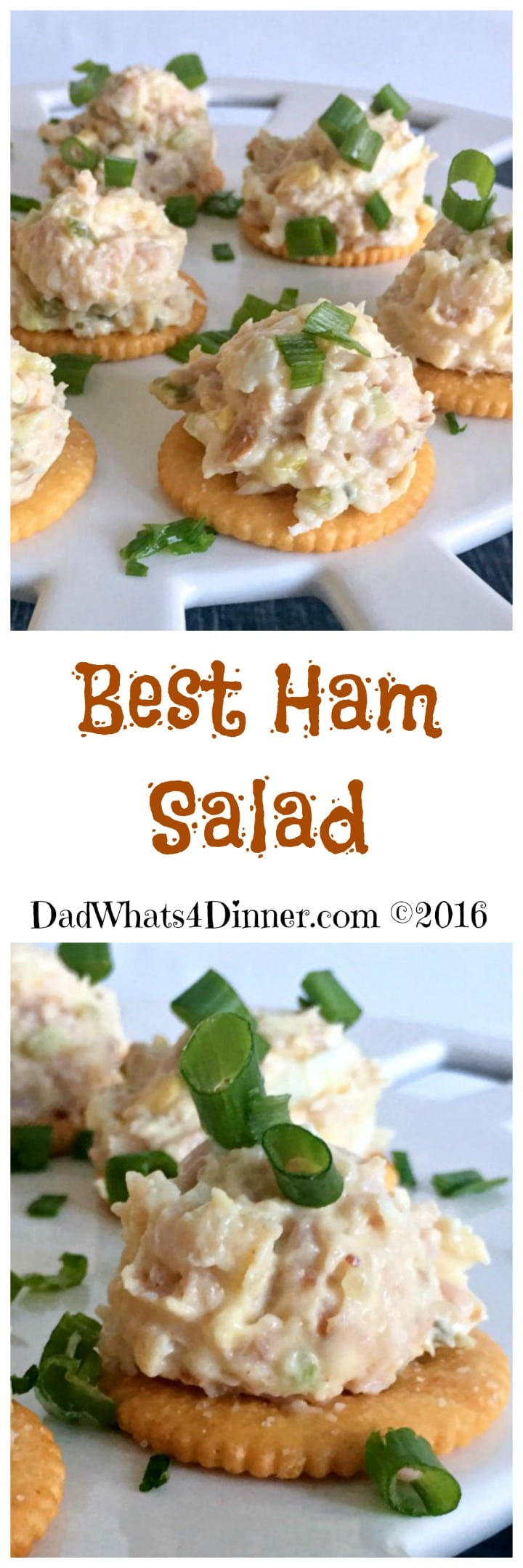 My Best Ham Salad is the perfect recipe to use up that leftover holiday ham. Creamy and smooth goes great on a cracker or a sandwich! #NewYearsEve #Leftovers #Ham #Salad #Spread