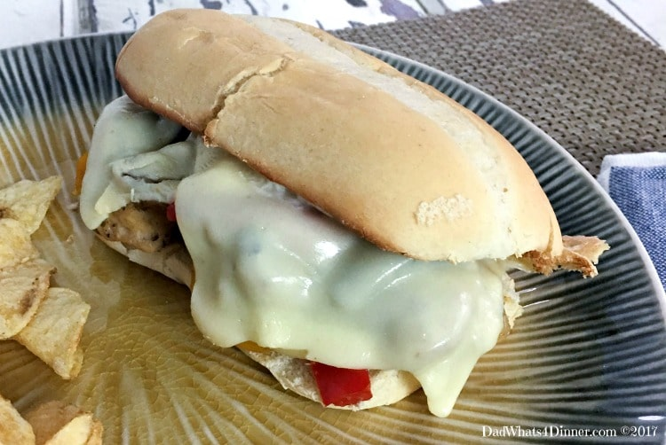 Sheet Pan Philly Chicken Cheesesteak
