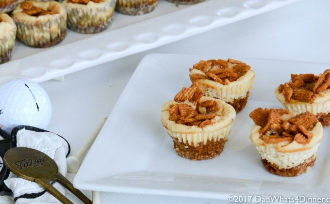Golden Grahams Mini Cheesecake Tarts