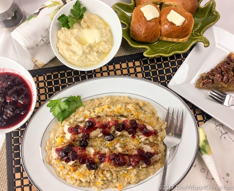 Elegant Thanksgiving Dinner For Two With Premium Side Dishes Dad Whats 4 Dinner