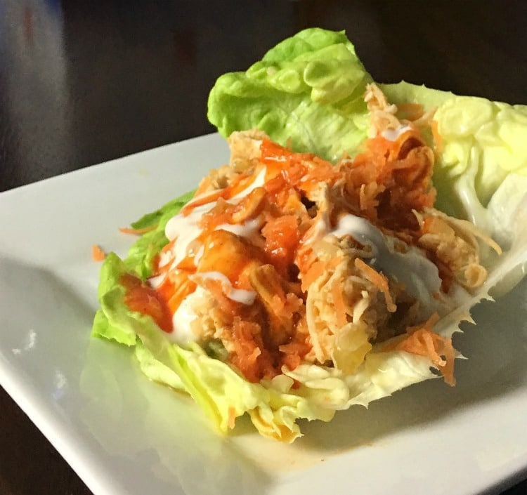 Instant Pot Buffalo Chicken Lettuce Wraps are for when you want the great taste of buffalo wings but not all the extra calories. Since the chicken is cooked in the Instant Pot it is fast, healthy, and full of flavor.