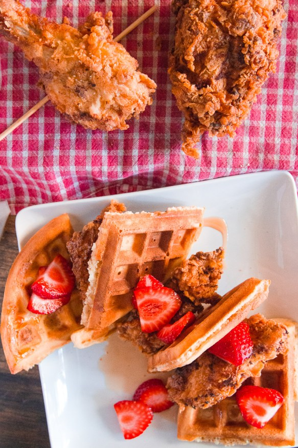 Skillet Fried Chicken And Waffles