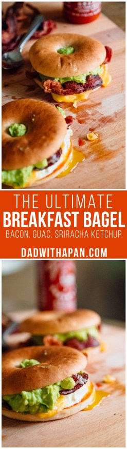 The Ultimate Breakfast Bagel #Bacon #Breakfast #Sandwich