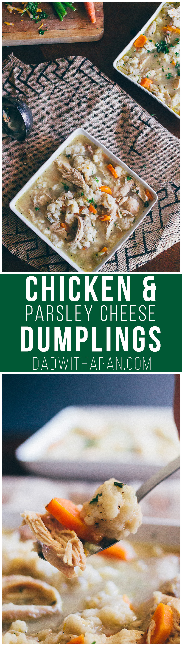 Chicken And Parsley Cheese Dumplings