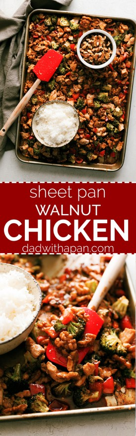 Walnut chicken with classic Asian cuisines flavors all cooked in one pan. #Walnuts were made for this recipe! @CAWalnuts #CAWalnutsPartner