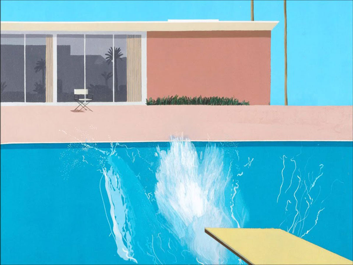 Summertime Blues: A Bigger Splash (1967), David Hockney.