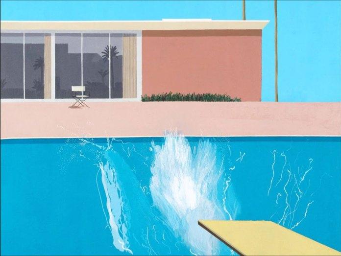 Summertime Blues: A Bigger Splash (1967), David Hockney.