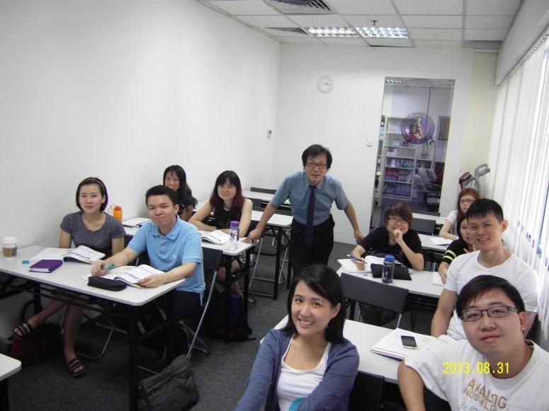 Teacher and his students Learn Easy Korean at Daehan Korean Language Centre