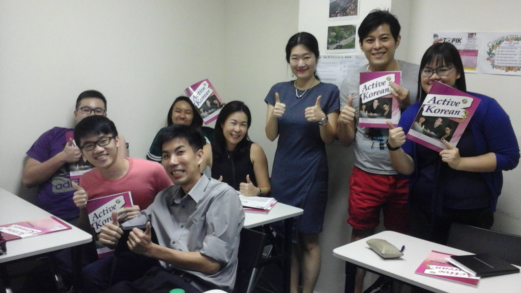 Teacher Yoo SH and her students of Korean Language Course of Intermediate Class