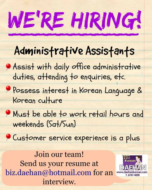 Admin. Staff Wanted