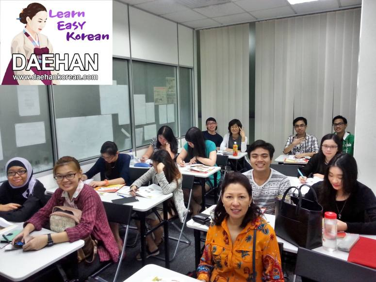 Teacher Ms Jang and her students of Korean Language Class