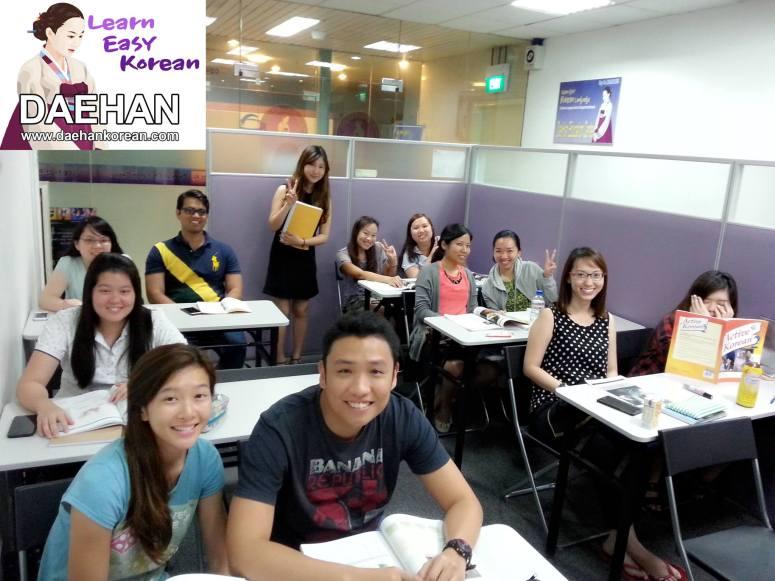 Teacher Ms Ku Hara and her students of Korean Language Class