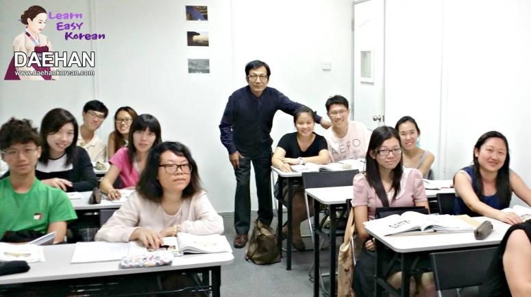 Teacher Ms Harry Quek and his students of Korean Language Course