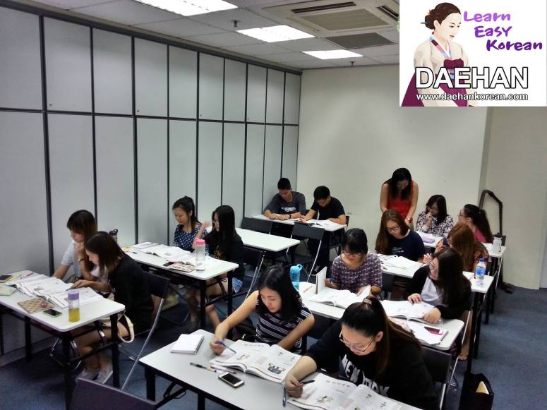 Teacher Ms MS Shin and her students of Korean Language Course