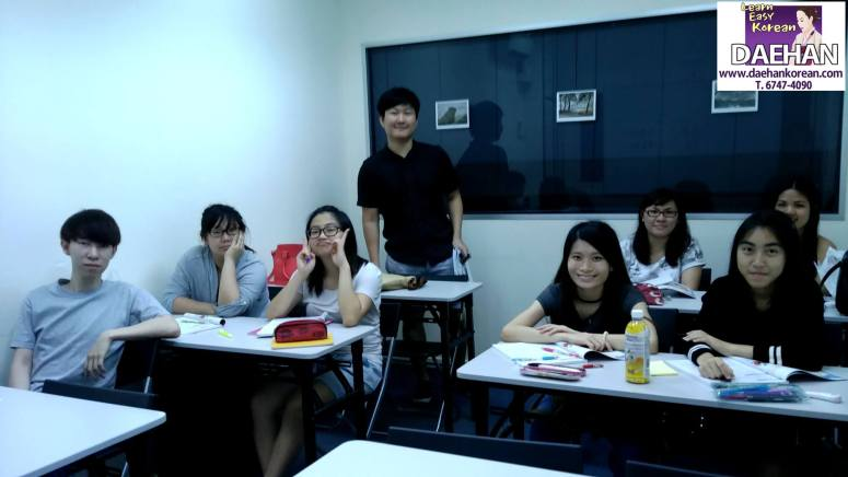 Teacher Mr Ha Lim Ku and his students of Korean Language Course