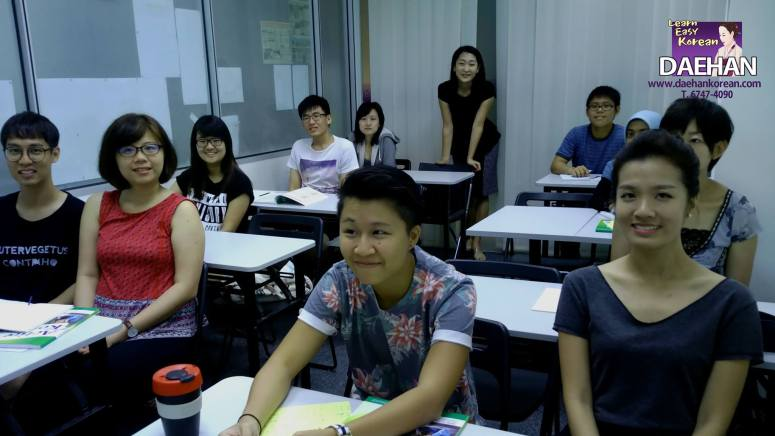 Teacher Ms SJ Park and her students of Korean Language Course
