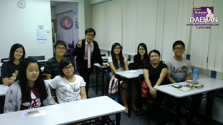 Teacher Mr Harry Quek and his students of Free Trial Lessons on Korean Language Course
