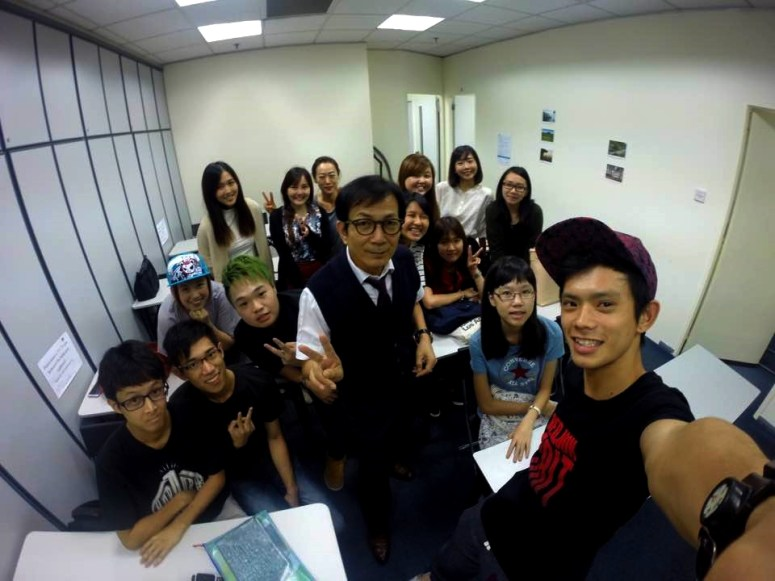Teacher Mr Harry Quek and his students of Korean Language Class