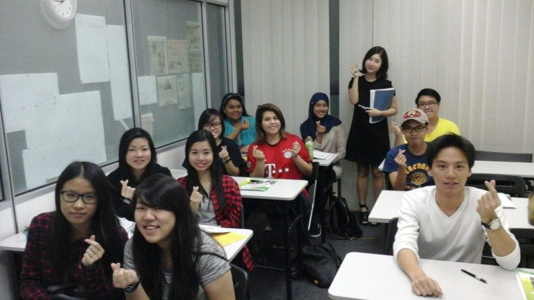 Teacher Ms HR Ku and her students of Korean Language Class