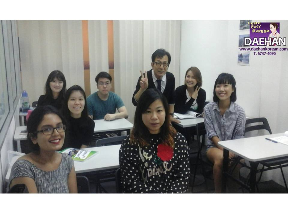 Teacher Harry Quek and his Full Time Students