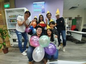 Daehan Korean Staff Members congrats on Ms Jess Koo's Happy Birthday