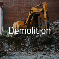 Demolition with DA Environmental Services Gloucestershire