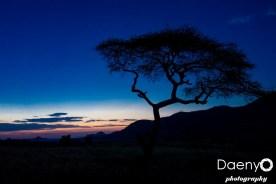 Omo Valley, Sunset at Bana tribe village