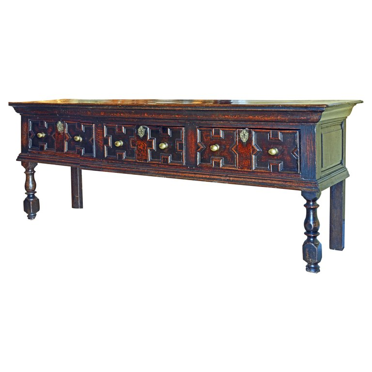 Stupendous 17Th 18Th Century English Jacobean Style Three Drawer Oak Ibusinesslaw Wood Chair Design Ideas Ibusinesslaworg