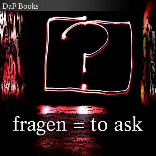 fragen - to ask: DaF Books vocabulary list