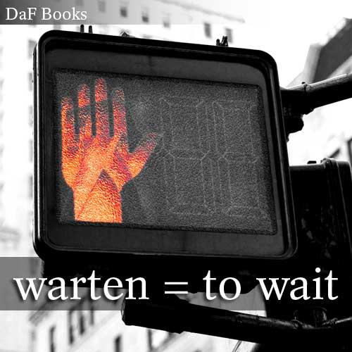warten - to wait: DaF Books vocabulary list