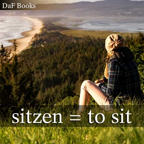 sitzen - to sit: DaF Books vocabulary list
