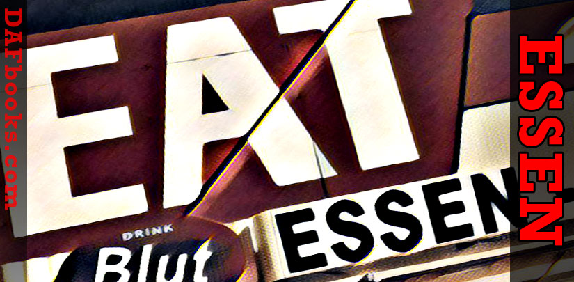 ESSEN (to eat): you eat, du isst, you're eating, du isst, you are eating, du isst, you don't eat, du isst, you're gonna eat, du isst, you ate, du isst, you do eat, du isst, you're going to eat, du isst, You'll eat, du isst, You want to eat. - to Eat (essen)