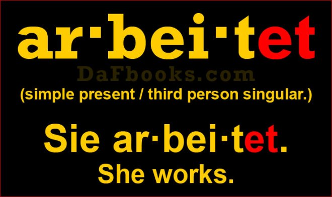Sie arbeitet. Conjugation arbeiten | Conjugate verb arbeiten
