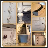 "Antique Dresser - Annie Sloan Chalk Paint ""Old White"" and ""Provence"" - Drawers lined in fine papers."