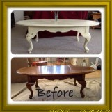 "Coffee Table - Annie Sloan Chalk Paint in ""Cream"" with dark wax - SOLD"