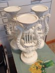 """Angel's Harp Candle Stands in Annie Sloan Chalk Paint """"Old White"""""""