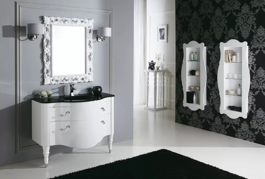 Mobile con lavabo e cassettoni, stile classico