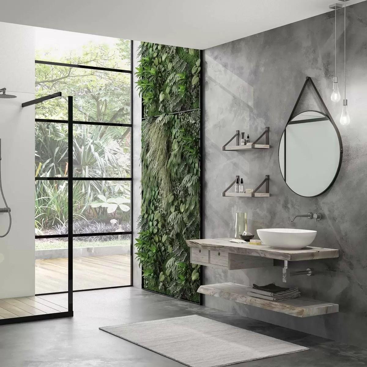 バスルームで自然を再発見