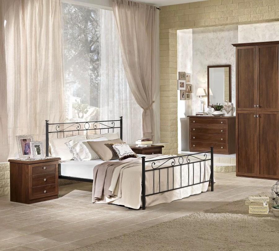 camera matrimoniale letto ferro battuto