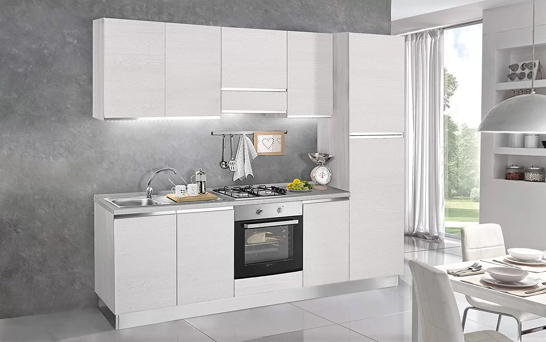 kitchen aid easy backsplash dafnedesign com 完整的厨房 右侧厘米 255x60x216h 包括 罩 通风炉 水槽 冰箱 冰柜 炉灶燃气灶4 n 6旋转门和抽屉 dafne design