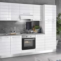 Complete Kitchen Ikea Wooden Cart Dafnedesign Com 完整的厨房 右侧厘米 255x60x216h 包括 罩 通风炉 水槽 冰箱 冰柜 炉灶燃气灶4 N 8旋转门和抽屉 Dafne Design