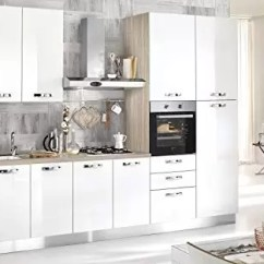 Hood Kitchen Make Your Own Cabinets Dafnedesign Com 完整的厨房 右侧厘米 300x60x216h 包括 引擎盖 通风烤箱 水槽 冰箱 带4炉灶的燃气灶具 N 9铰链门和3抽屉