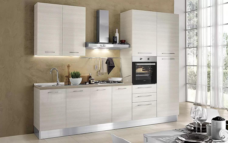 complete kitchen undermount sink dafnedesign com 完整的厨房 右侧厘米 300x60x216h 包括 引擎盖 通风烤箱 水槽 冰箱 带4炉灶的燃气灶具 n 9铰链门和3抽屉 dafne design