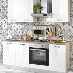 Small Kitchen Sinks Storage Bench Dafnedesign Com 小厨房 组成dx Cm 厘米 195 60 X 216h 包括 引擎盖 通风烤箱 水槽 带4炉灶的燃气灶具 N 6铰链门和抽屉