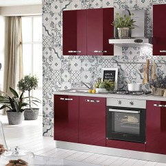 Hood Kitchen Inexpensive Table Sets Dafnedesign Com 小厨房 组成dx Cm 厘米 195 60 X 216h 包括 引擎盖 通风烤箱 水槽 带4炉灶的燃气灶具 N 6铰链门和抽屉